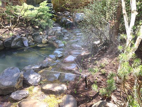 Спринклер у ручья