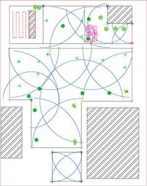 План участка для проектирования автополива
